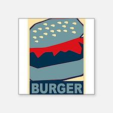Hamburger in Blues Sticker