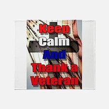 God Bless Our Veterans Throw Blanket