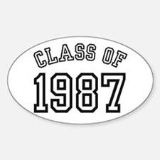 Class of 1987 Oval Bumper Stickers