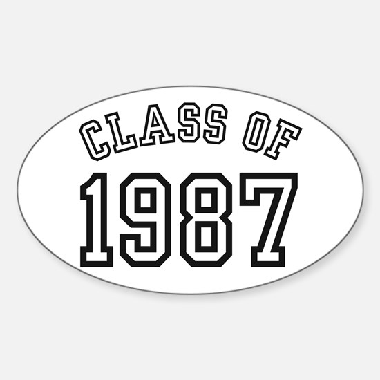 Class of 1987 Oval Decal