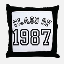 Class of 1987 Throw Pillow