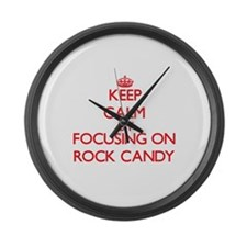 Keep Calm by focusing on Rock Can Large Wall Clock