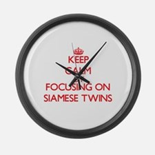 Keep Calm by focusing on Siamese Large Wall Clock