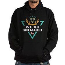Couples Matching Engagement Hipster Hoodie