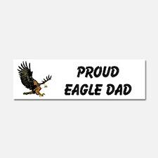 Proud Eagle Dad Car Magnet 10 X 3