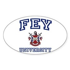 FEY University Oval Decal