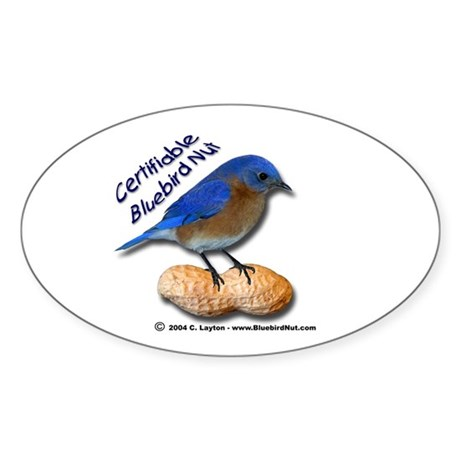 The New Bluebird Nut Oval Sticker