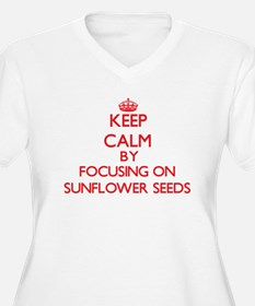 Keep Calm by focusing on Sunflow Plus Size T-Shirt