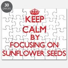 Keep Calm by focusing on Sunflower Seeds Puzzle