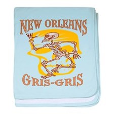 New Orleans Gris Gris baby blanket
