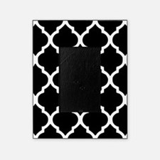 Quatrefoil Black and White Picture Frame