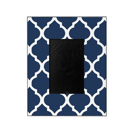 navy blue quatrefoil pattern picture frame by admin cp113754339. Black Bedroom Furniture Sets. Home Design Ideas