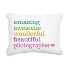 Awesome Photographer Rectangular Canvas Pillow