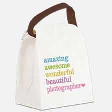 Awesome Photographer Canvas Lunch Bag