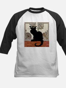 Gothic Black Cat Baseball Jersey