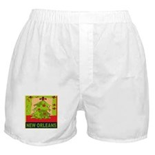 New Orleans Christmas Tree Boxer Shorts