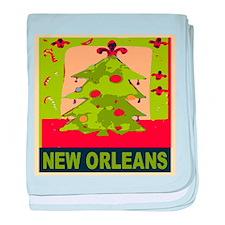 New Orleans Christmas Tree baby blanket