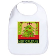New Orleans Christmas Tree Bib