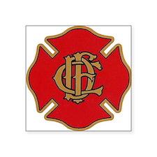 """Cute Fire department Square Sticker 3"""" x 3"""""""