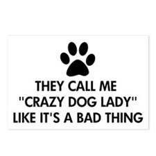 They call me crazy dog la Postcards (Package of 8)