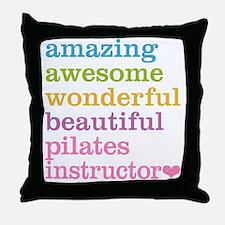 Pilates Instructor Throw Pillow