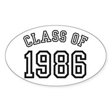 Class of 1986 Oval Decal