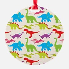 Cool Colorful Kids Dinosaur Pattern Ornament