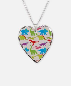 Cool Colorful Kids Dinosaur Pattern Necklace