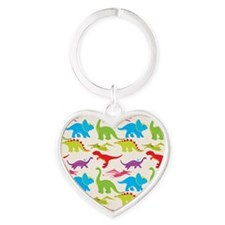 Cool Colorful Kids Dinosaur Pattern Keychains