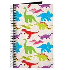 Cool Colorful Kids Dinosaur Pattern Journal