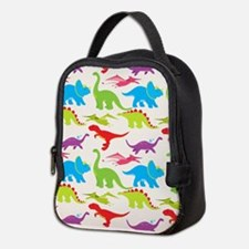 Cool Colorful Kids Dinosaur Pattern Neoprene Lunch