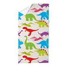 Cool Colorful Kids Dinosaur Pattern Beach Towel