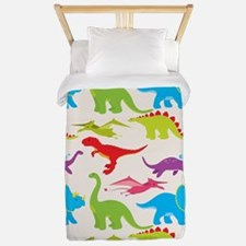 Cool Colorful Kids Dinosaur Pattern Twin Duvet