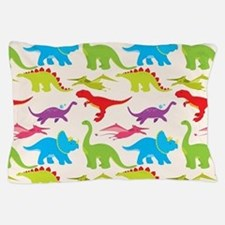 Cool Colorful Kids Dinosaur Pattern Pillow Case