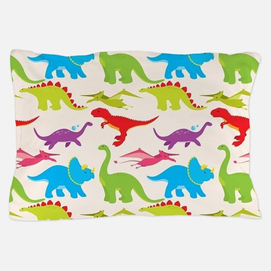 Cool Colorful Kids Dinosaur Pattern Pillow Case