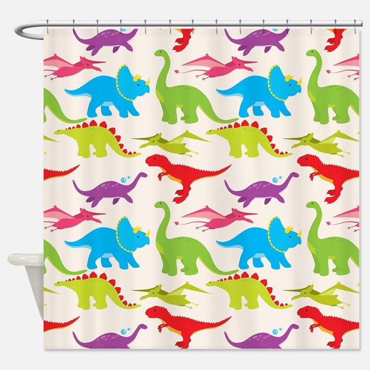 Dino Shower Curtains Dino Fabric Shower Curtain Liner