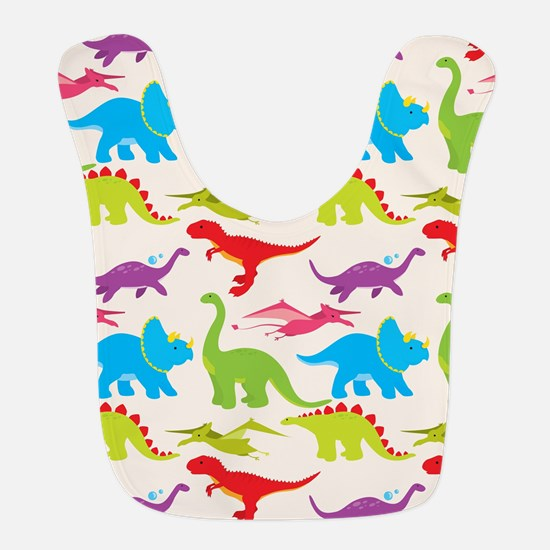 Cool Colorful Kids Dinosaur Pattern Bib