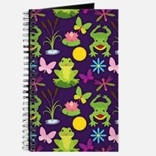 Cute Frog, Butterfly, Lilypad, and Dragonfly Patte