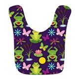 Frogs Fleece Bibs