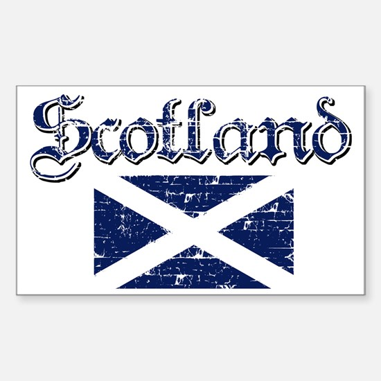 Scottish Flag Rectangle Decal