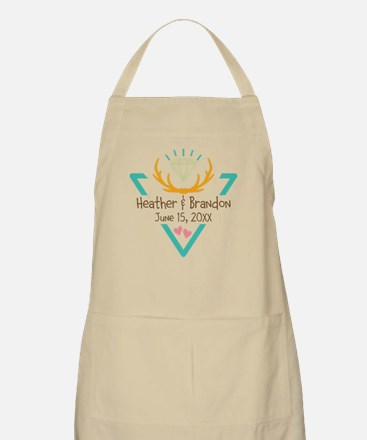 Hipster Wedding or Engagement Gift Apron