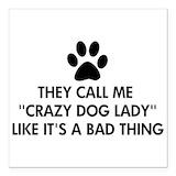 Dog lover Square Car Magnets