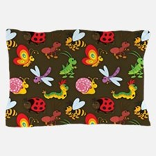 Cute Colorful Bugs, Insects Pattern Pillow Case