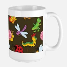 Cute Colorful Bugs, Insects Pattern Mugs