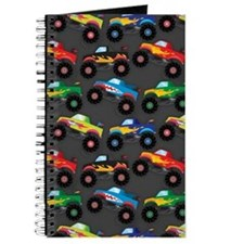 Cool Monster Trucks Pattern, Colorful Kids Journal
