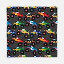 Cool Monster Trucks Pattern, Colorful Kids Queen D