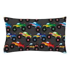 Cool Monster Trucks Pattern, Colorful Kids Pillow