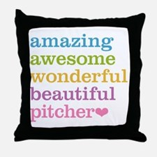 Awesome Pitcher Throw Pillow