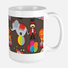 Cute Colorful Circus Clown and Animals Pattern Mug
