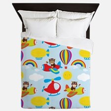 Cute Colorful Pilots, Airplane, Blimp, Helicpoter,